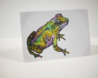 Rainbow Frog Card