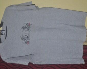 Vintage 90s FUCT forever skulls Skate Skateboard Made in USA Raglan Style T-Shirt