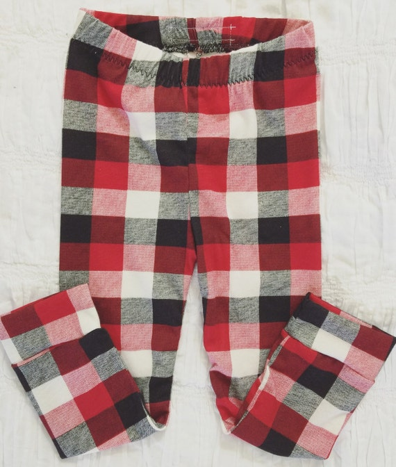 Red Plaid Carolers 18: Items Similar To Buffalo Plaid Leggings. Red And Black