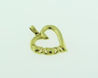 14 K gold XOXO heart pendant