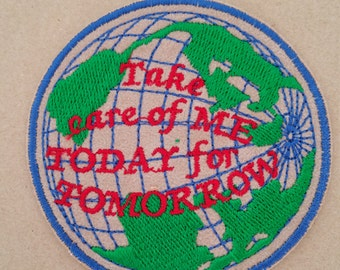 Protect the earth patch Save the earth applique Earth iron on or sew on applique Earth embroidery Planet applique Planet patch Nature patch