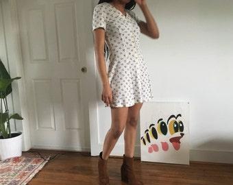 Vintage 90s Babydoll Style Dress Sz Small