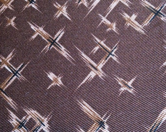 Brown Print Cotton Twill 1.5 yards