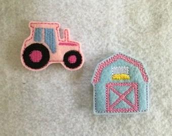 Barn Feltie, Tractor Feltie, Your Choice, Always Precut
