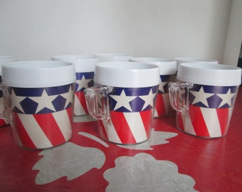 Stars And Stripes Plastic Cups/Mugs