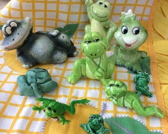 Frog Collection 9 Different styles Vintage