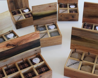 Watch Box  |  multiple sizes with engraving , lumberjack, rustic reclaimed wood,  christmas for him, 5th anniversary gift for men, him