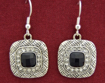 Chantilly's Black Square Earrings - 47109