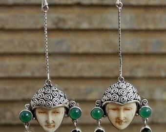 Vintage Balinese Dangle Earrings