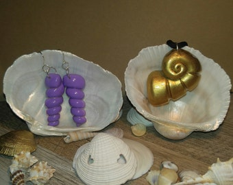 Ursula Spiral Shell Earrings & Necklace