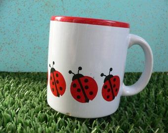 Vintage Waechtersbach West Germany Ladybug Mug German Collectible