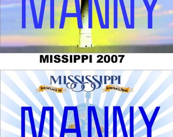 Personalized Mississippi Refrigerator Magnet State License Plate Replica