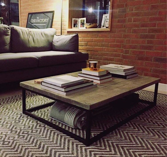 Industrial Chic Style Reclaimed Custom Coffee Table TV Stand