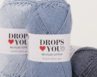 100% Recycled Cotton Yarn by DROPS Heart You 6