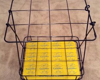 Vintage Warps Coverall Advertising Display Rack with Masonite Peg Board