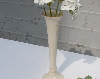 Vintage Lenox Bud Vase / Tall and Graceful Vase with Gold /
