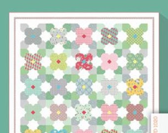 """Wild Flowers quilt pattern by The Jungs layer cake friendly 74"""" by 74"""" in stock and ready to ship"""