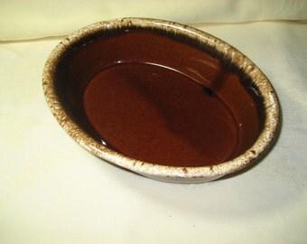 H.P. Co. Ovenproof Brown Drip Casserole Dish