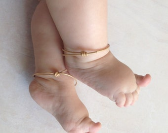 Golden Baby Anklet Cuffs