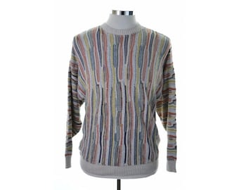 Con Livello Mens Jumper Sweater Medium Multi Stripe Polyacryl Wool