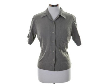 Columbia Womens Shirt Small Grey Rayon Polyester