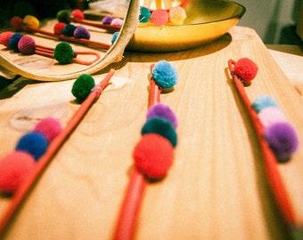 Pompom Bracelet, Hmong  ,Ethnic accessory