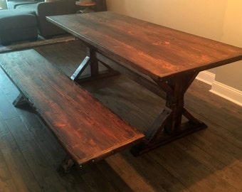 Rustic Trestle X-Table: The Canton