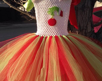 Mean One Inspired Christmas Tutu Dress (Style 2) MADE TO ORDER