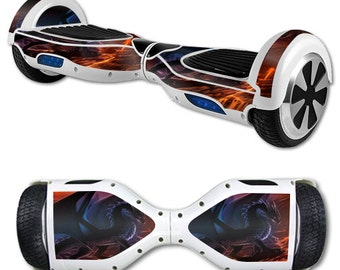 Skin Decal Wrap for Self Balancing Scooter Hoverboard unicycle Fire Dragon