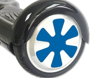 Skin Decal Wrap for Hoverboard Balance Board Scooter Wheels Solid Blue