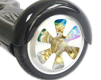 Skin Decal Wrap for Hoverboard Balance Board Scooter Wheels Unicorn