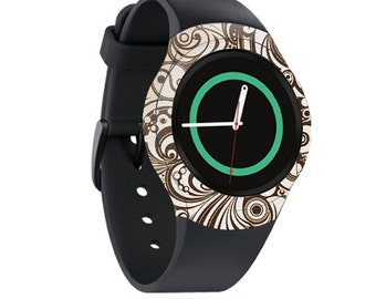 Skin Decal Wrap for Samsung Gear S2, S2 3G, Live, Neo S Smart Watch, Galaxy Gear Fit cover sticker Vintage Swirls