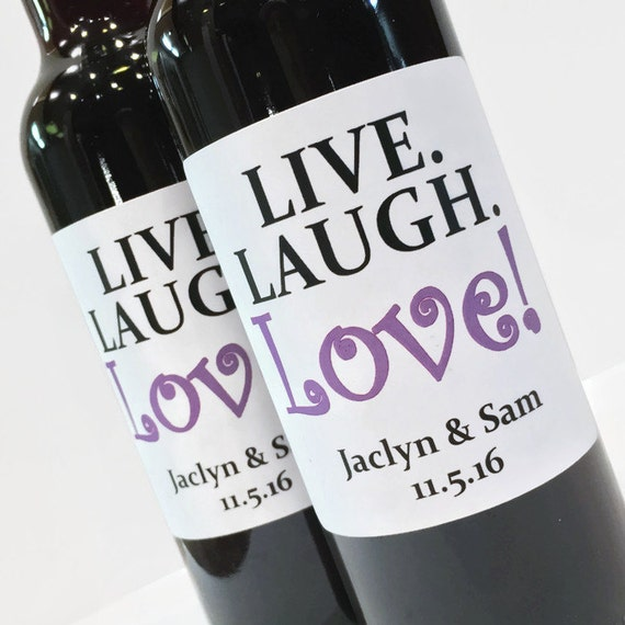 Live Laugh Love Wedding Favor Or Bridal Shower Custom