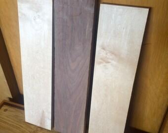 Sugar Maple & Black Walnut Lumber - 3 Piece Set