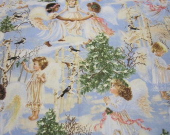 Girl Angel Cotton Fabric Designed by Dona Gelsinger for Timeless Treasures