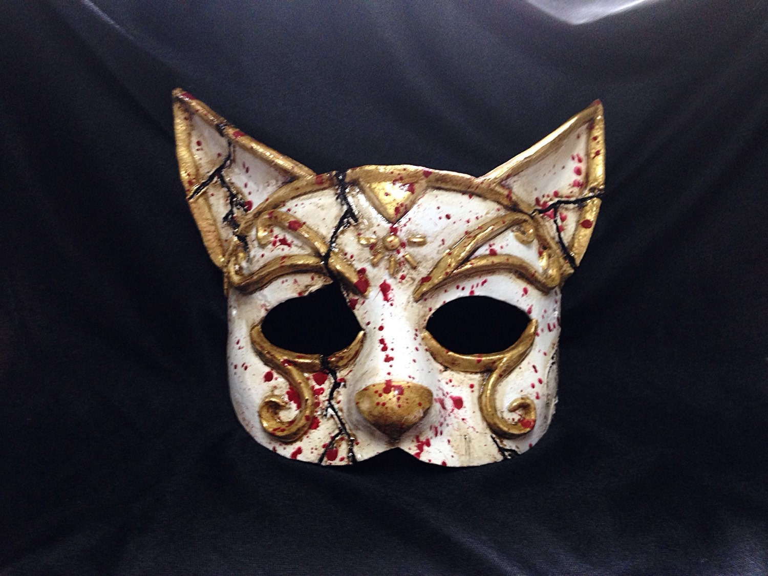 bioshock inspired splicer mask cat by geekoutprops on etsy