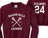Teen Wolf Beacon Hills Lacrosse Sweatshirt Stilinski 24 Sweatshirt
