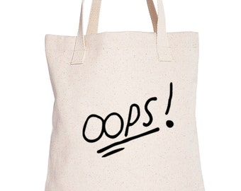 Oops Cotton Tote Bag Louis tattoo Oops One direction Louis Tomlinson Tattoo Organic Cotton bag