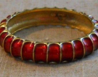 REDUCED - 1980s red enamel SPHINX bracelet