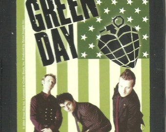 GREEN DAY flag VINTAGE tobacco small stash tin 3.25 x 2.5 inches - very rare - new - no longer made