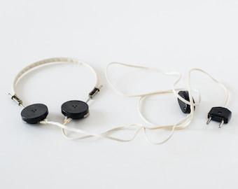 Vintage headphones - Old Russian Headphones - Ton-2 - Made in USSR
