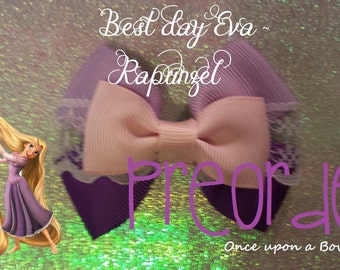 PRE ORDER Hand made disney tangled, rapunzel character inspired hair bow