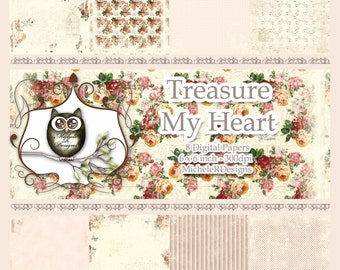 Treasure My Heart 6x6 Collection - Instant Download