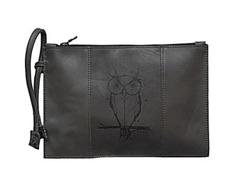 Leather pouch / / made in France / / graphic Kit