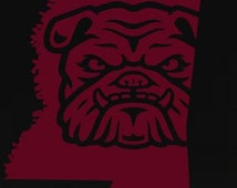 Mississippi Decal, State Decal, Bulldog Decal Stickers