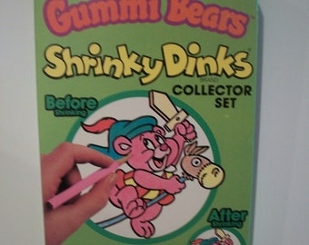 Terrific Vintage Disney's Gummi Bears Shrinky Dinks by Colorforms 1985 - Unopened #1655