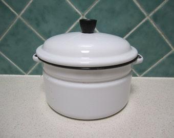 Vintage Enamel Saucepan/Steamer - 1970's
