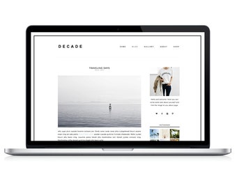 Wordpress Theme - Decade - Responsive Wordpress Blog Design - Wordpress Template - Wordpress Theme Feminime - Wordpress Theme Modern