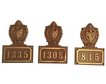Door Plaque From The Plaza Hotel NYC - 3 Available