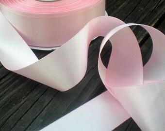 "Blush pink satin ribbon, 5 yards, 1.5"" width,  Premium, double-sided"